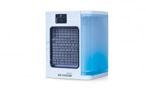 Racitor de aer mobil, cu filtru pentru praf, rezervor de apa si display LCD, Alb