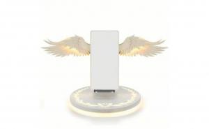Incarcator wireless cu aripi de inger ALB