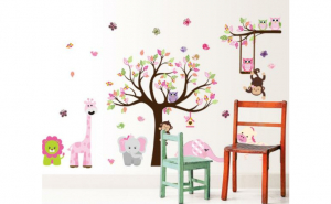 Autocolant perete camera copii Happy Tree