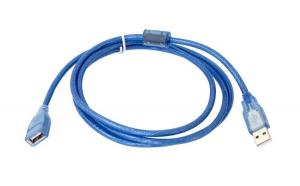 Cablu USB A Tata-Mama Albastru, Versiune 2.0, 1.5 M Lungime