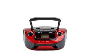 Set Radio cu MP3 Player Fepe FP-201U, USB, SD card, AM/FM/SW1/SW2, culoare rosie si Modulator FM Centenar KC-681