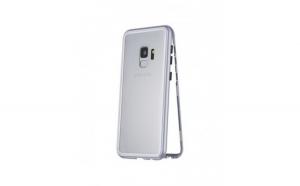 Carcasa protectie Samsung S9 Plus, magnetica, argintiu