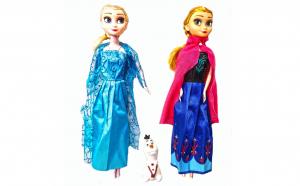 Set papusi Anna, Elsa 28 cm  si Olaf