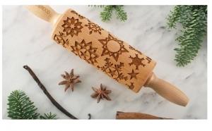 Snowflakes-Mini -Sucitor lemn gravat cu Laser, pentru decorarea fursecurilor si prajiturilor la doar 99 RON
