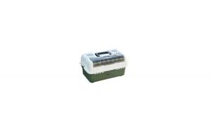 Cutie pescar cu 3 sertare si un compartiment pentru momeli spinning, 440x250x180mm
