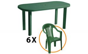 Set masa Garden + 6 scaune Sole, pentru