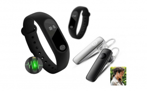 Casca Bluetooth + Bratara fitness