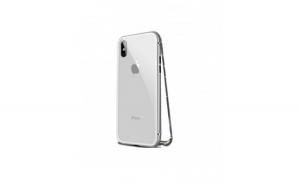 Carcasa protectie Iphone X, magnetica, argintiu