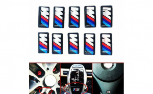 Embleme silicon BMW M, set de 10 bucati