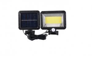 Lampa solara 128 Led cu panou solar si senzor de miscare