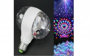 Bec rotativ proiector multicolor dublu cu LED