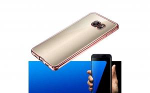 Husa Silicon Cu Margini Cromate Samsung Galaxy S6 Edge