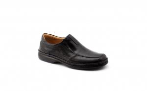 Pantofi barbati, piele naturala, 221, negru, maro