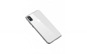 Husa protectie Iphone XS Max, ultra slim, din silicon, argintiu