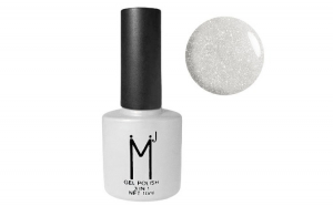 Oja semipermanenta cu sclipici 3 in 1, MJ Gel Polish, Nuanta 096, Silver Flakes, 10 ml