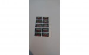 Embleme silicon Audi, set de 10 bucati
