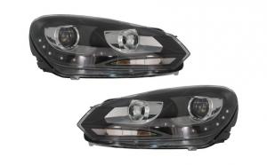 Set 2 faruri LED Dayline compatibil cu VW Golf 6 VI (2008-2013) GTI Look