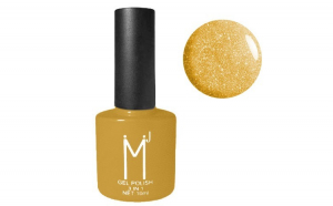 Oja semipermanenta cu sclipici 3 in 1, MJ Gel Polish, Nuanta 097, Honey and Mustard, 10 ml