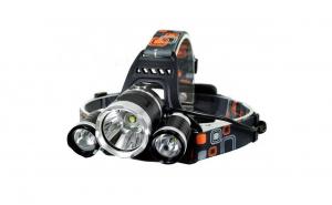 Lanterna frontala de cap MRG, 3 LED-uri, Reincarcabila, Negru C355
