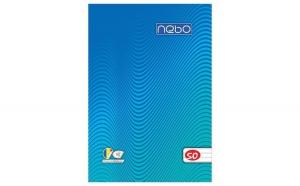 Bloc notes A6, 50 file dictando- NEBO,Albastru
