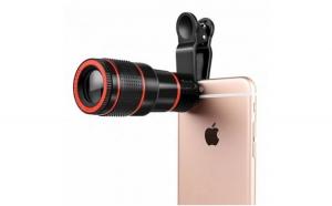 Mini-telescop cu zoom 8 x pentru telefon