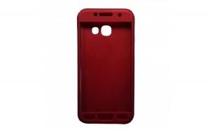 Husa Samsung Galaxy A3 2017 Flippy Full Cover 360 Rosu + Folie de protectie