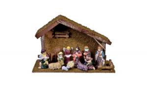 Decor de Crăciun 47x17x31 cm - 11 figuri