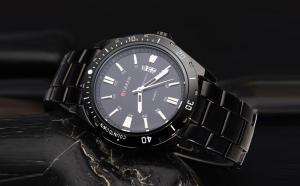 Ceas Curren Chronometer negru, metalic, afisare data + cutie Cadou, la doar 109 RON in loc de 249 RON