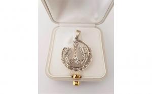 Pandantiv din Aur 14k, decorat cu Diamante
