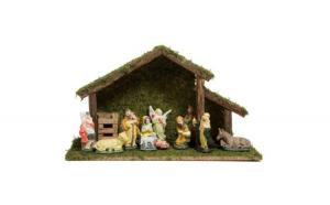 Decor de Crăciun 39x15x23 cm - 11 figurine JstJ
