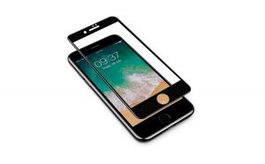 Set 2x Folie MTP 11D pentru iPhone 7 Black Full Cover margini curbate