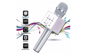 Microfon Karaoke Q7-M2, Wireless, sistem