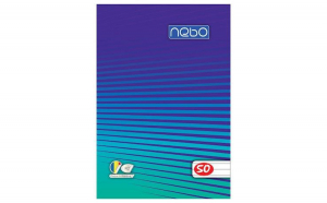 Bloc notes A7, 50 file dictando- NEBO,albastru
