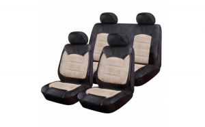 Huse scaune auto BMW E90/E91   Luxury Negru Crem