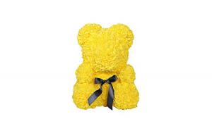 Ursulet  Rose Bear 25 cm din trandafiri,culoare galben