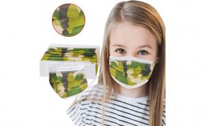 50 masti copii medicale IIR cu camuflaj