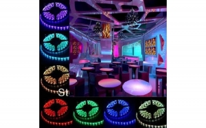 RGB ROLA BANDA 300 LED - LEDURI SMD 5050 RGB - 5 METRI, IMPERMEABILA (WATERPROOF
