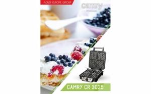 Aparat de preparat waffle/ vafe Camry CR 3025 - 1150 wati, termostat reglabil, din inox