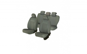 Huse scaune auto BMW SERIA 3 E 90  2004 ? 2012  dAL Elegance Gri,Piele ecologica + Textil