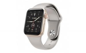 Ceas Smartwatch Techstar® W58Pro Argintiu  1.3 inch IPS  Monitorizare Temperatura  Sedentarism  Bluetooth  IP67