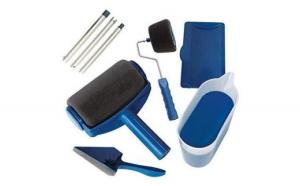 Trafalet Paint Roller Profesional cu umplere + rezervor recipient,brat extensibil, 2x accesorii pentru Colturi,insta