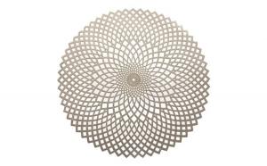 Suport farfurii rotund pvc 38cm auriu Glamour