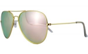 Ochelari de soare Aviator Roz Oglinda -
