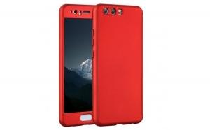 Husa Huawei P10 Plus Flippy Full Cover 360 Rosu + Folie de protectie
