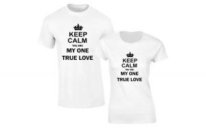 Set de tricouri albe Keep calm COD
