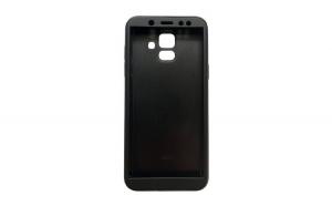 Husa Samsung Galaxy A6 2018 Flippy Full Cover 360 Negru + Folie de protectie