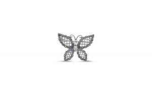 Brosa fluturas din argint 925 cu