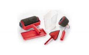 Set 2x Trafaleti Reflection Vision®  Paint Roller 5 in 1 Profesional , umplere rezervor integrat, brat extensibil 71 cm accesoriu pentru colturi