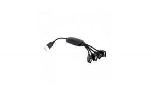 Hub USB 2.0 cu 4 porturi, negru