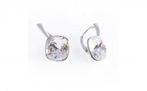 Cercei AG.925,Swarovski Crystal